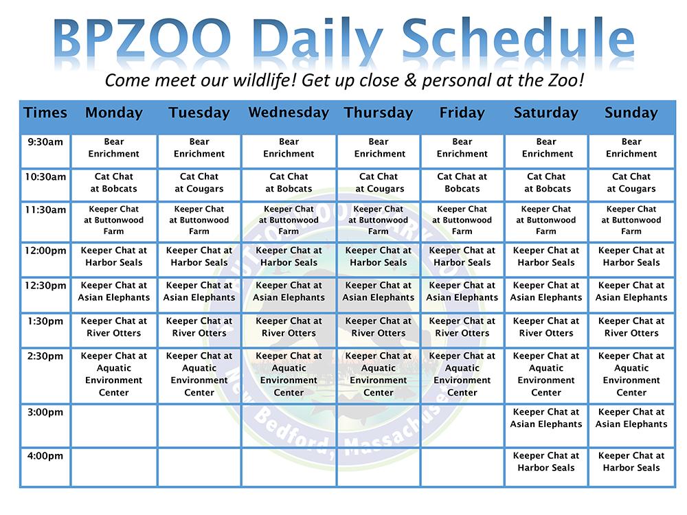 Summer Enrichment Schedule 2014